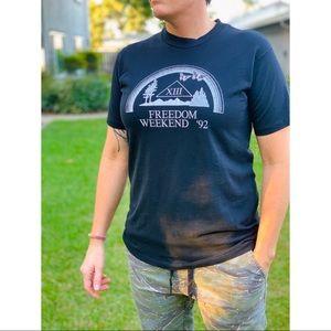 Vtg 1992 Freedom Weekend VIII Shirt, AA NA, 90s